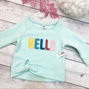 Baby Seafoam 'Hello' Sweatshirt - Size 12-18M